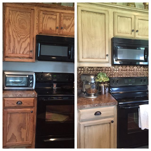 Before And After Painted Kitchen Cabinets: 21 Best Restain Kitchen Cabinets Images On Pinterest