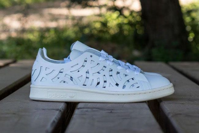 adidas Stan Smith Cutout White BB5149. The adidas Stan Smith Cutout White features geometric patterns cut out across the uppers in White.