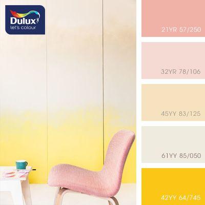 The color palette of paints DULUX