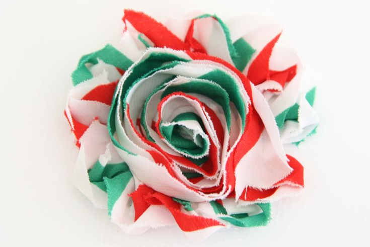 Christmas Shabby Chic Flower Candy Cane