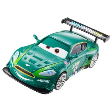 Disney Cars 2 auto Nigel Gearsley  Probeer met de Britse Cars auto Nigel Gearsley de Grand Prix te winnen! Nigel heeft een speciaal talent voor het omhoog rijden van Bergen! Hij is daarin niet te verslaan. Nigel Gearsley heeft een groene kleur.  EUR 7.99  Meer informatie