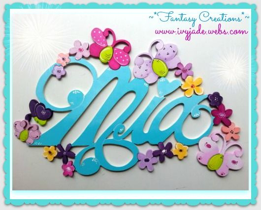 hand made wooden personalized door or wall signs .   butterflies fantasy creations  ~  www.ivyjade.webs.com