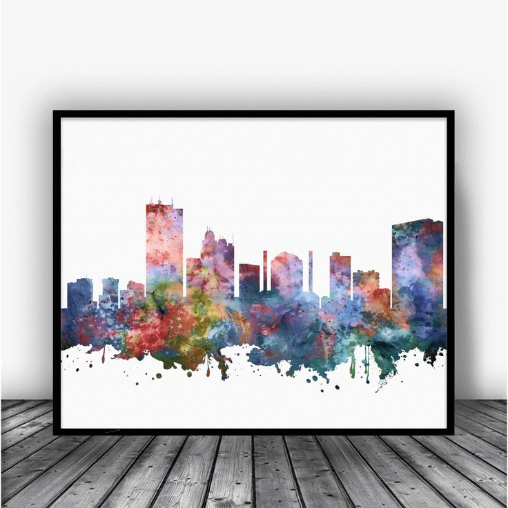 Toledo Skyline Art Print Poster by Carma Zoe From $10.00