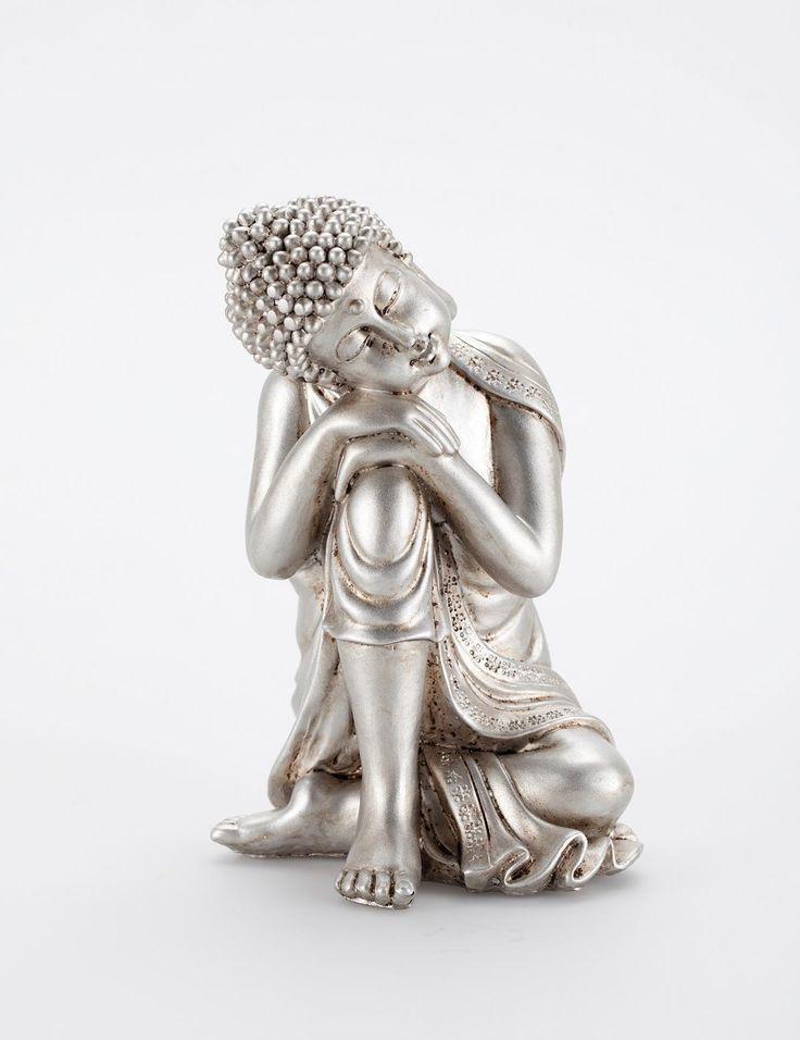 Relaxed buddha silver | Statues | Decorations | Dekorationer | Inredning | INDISKA Shop Online