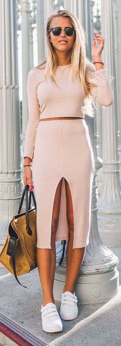 Janni Deler Light Pink Two Pieces Set Fall Inspo