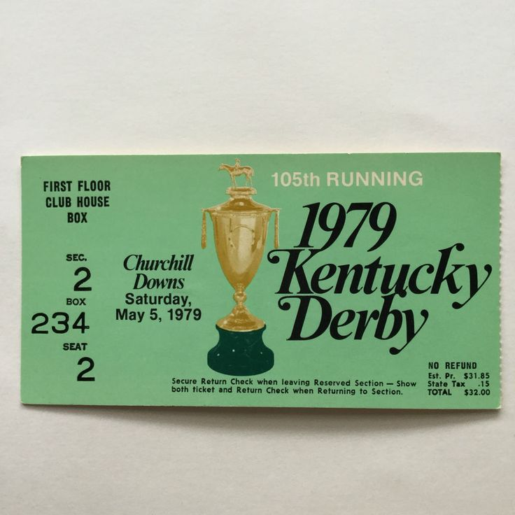 kentucky derby day churchill downs horse racing #vintage ticket stub 1979 from $9.99