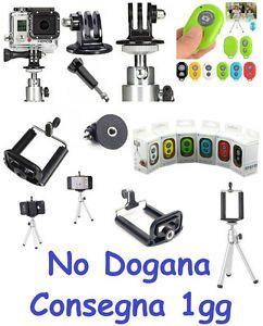Kit Supporto Selfie Smartphone Accessori Foto Video Camera tripod iphone gopro telecomando remote control