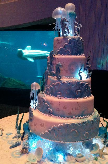 227 best images about quinceanera ideas on pinterest for Fish tank cake designs