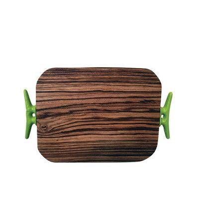Simply Whimsical Zebra Wood Cheese Board