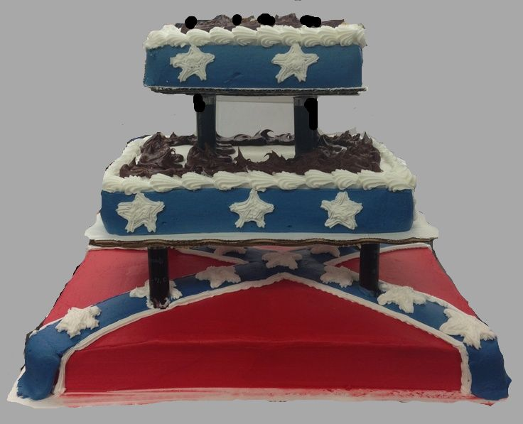rebel flag wedding cakes 9 best confederate flag cake ideas images on 18983
