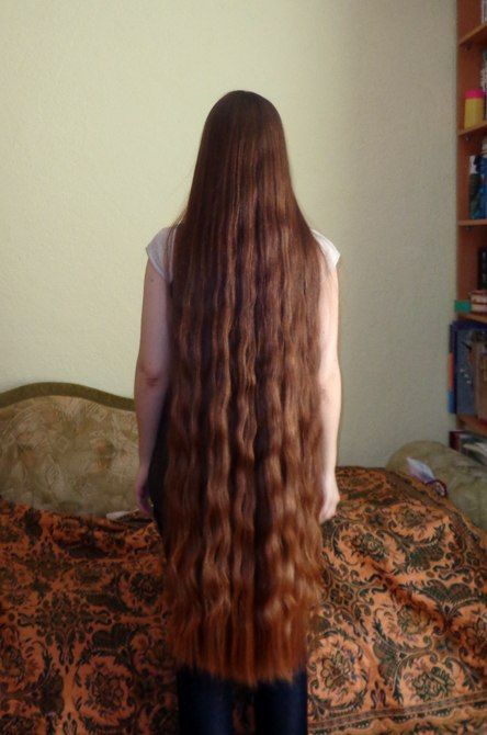 My hair is almost this long