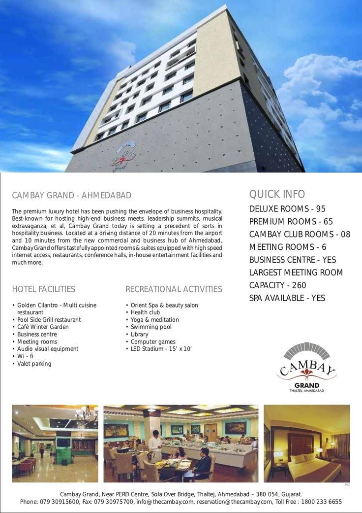 Cambay Grand, Ahmedabad User Manual by Cambay #Hotels & #Resorts