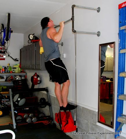 garage gym ideas - good idea for pull up bar