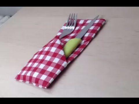 Décorer une table - Pliage serviette porte couverts - YouTube