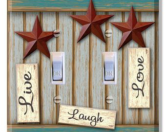 Live Laugh Love Teal Light Switch Plate Cover Decor Bedroom Bathroom Girls Room Living Dinning