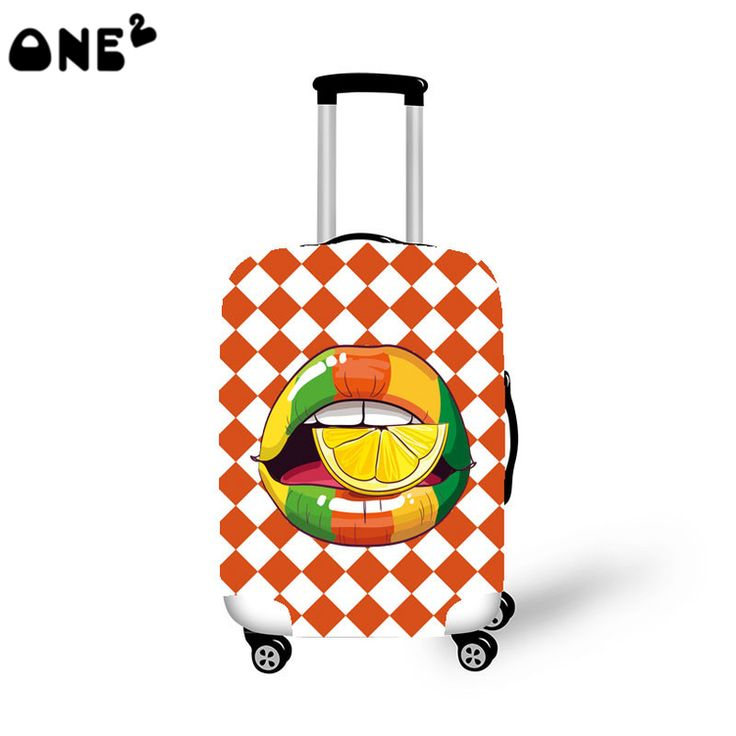 ONE2 new design base on print luggage cover difference inch luggage cover big mouth pattern popular childern luggage cover