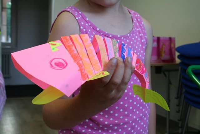 Paper moving fish