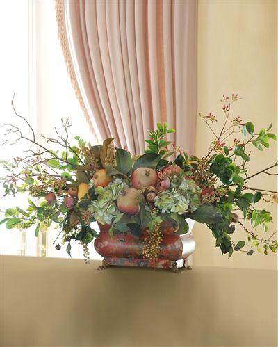 Pomegranate and Hydrangea Tuscan Centerpiece