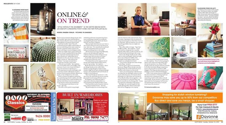 My home in Northside magazine #interiors addict #jen bishop