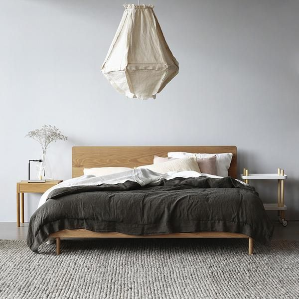 The Linear King Bed is locally designed and made low-line, in modern Scandi-style. Can be constructed using solid American Oak or American Walnut. Price from $4032.
