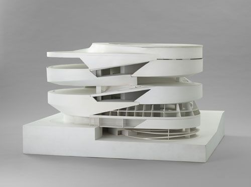 Aw man... missing this exhibit at MOMA in NY. Curated by Barry Bergdoll. UN Studio model of Mercedes Benz Bldg. Great firm. Great Model. Great Building.
