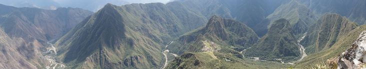 Sacred Valley Peru - Taken from Machu Picchu Mountain http://ift.tt/2Ca4tfc