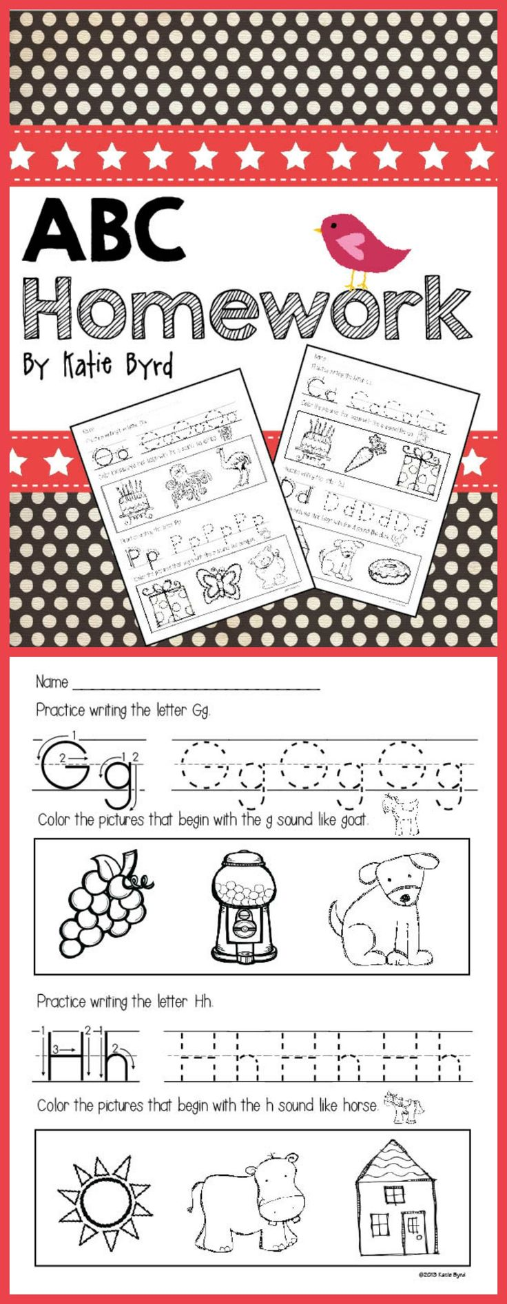 43 best Kindergarten Homework Ideas images on Pinterest | Guided ...