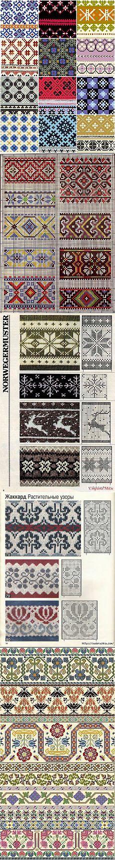 Вязание спицами: узоры.