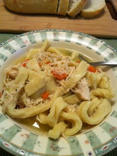 Grandma's Noodles ~ Chicken and Noodles ~ An old fashioned recipe that is just as yummy today. Great directions!