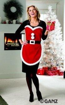 Merry Christmas Fancy Miss Santa Claus Apron - Christmas Apron - Santa Smock by Ganz, http://www.amazon.com/dp/B003X44PTC/ref=cm_sw_r_pi_dp_3INWqb1QYYDC7                                                                                                                                                      More
