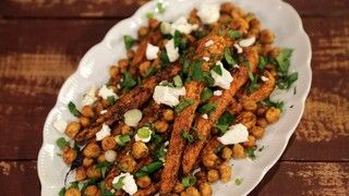 Roasted Carrots and Chickpeas with Feta Vinaigrette Recipe | The Chew - ABC.com