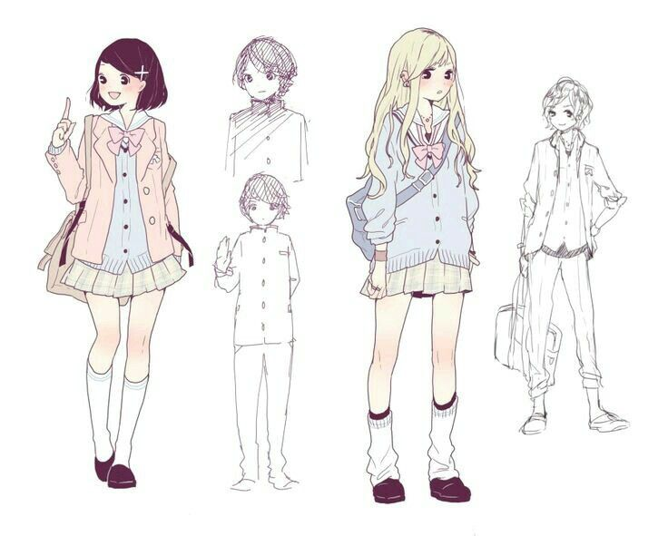 Manga Girl Style Boy Drawing Casual Outfits Character Design Animation Anime Ideas Drawings