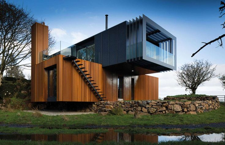 This stylish-looking container home near Maghera in Northern Ireland was built by architect Patrick ... - Patrick Bradley Architects