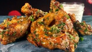 Baked Chicken Wings with Salsa Verde Recipe | The Chew - ABC.com Said really good on chicken breasts too