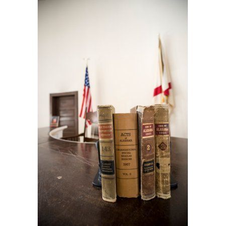 1930s era Alabama law books in the courtroom of the Old Monroe County Courthouse Monroeville Monroe County Alabama USA Canvas Art - Panoramic Images (18 x 24)