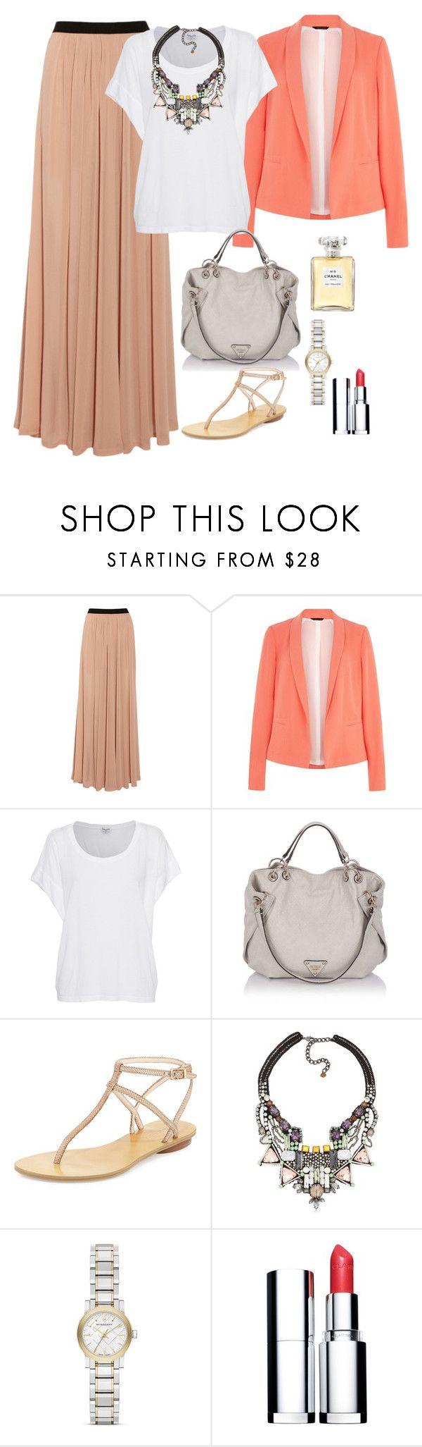 """""""Hijab style ✨"""" by fashionista-hijab ❤ liked on Polyvore featuring Enza Costa, Splendid, Pelle Moda, Nocturne, Chanel, Burberry and Clarins"""