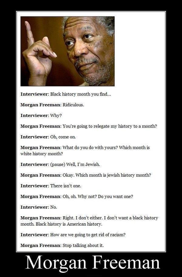 Love you, Morgan Freeman