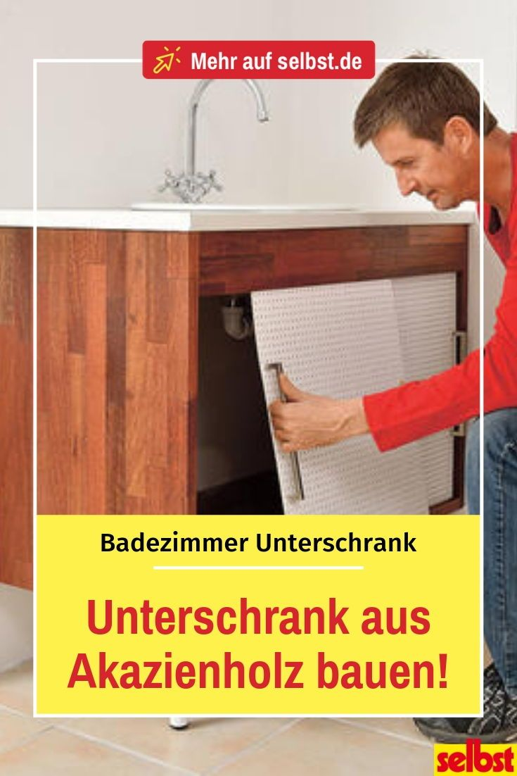 Akazienholz Im Badezimmer Badezimmer Unterschrank In 2019 Diy Bathroom Furniture