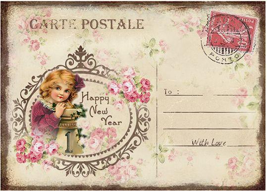 JanetK.Design Free digital vintage stuff: Nieuwjaar