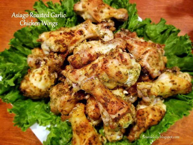 Fleur de Lolly: Wing Wednesday:  Asiago Roasted Garlic Chicken Win...