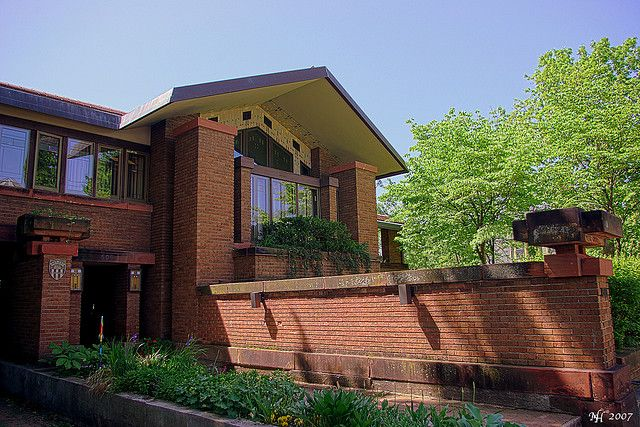 David M. Amberg House. Grand Rapids, Michigan. 1910. Marion Mahoney and Walter Burley Griffin