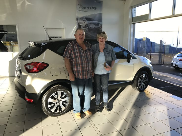 Mavis and Eddy collecting their new Renault Captur... #CDRenault