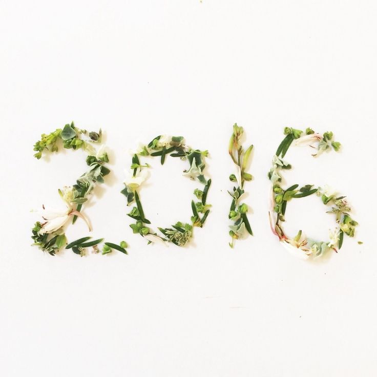 It's a new year! Here's 2016 made out of flowers and little leaves. I've set some new year goals that I'm already working towards