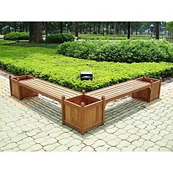 Design, traditional elegance and rustic charm make the stunning double bench/flower box combo a must-have for any decorSet includes planters and two benchesPatio set provides a place to display beautiful annuals with seating