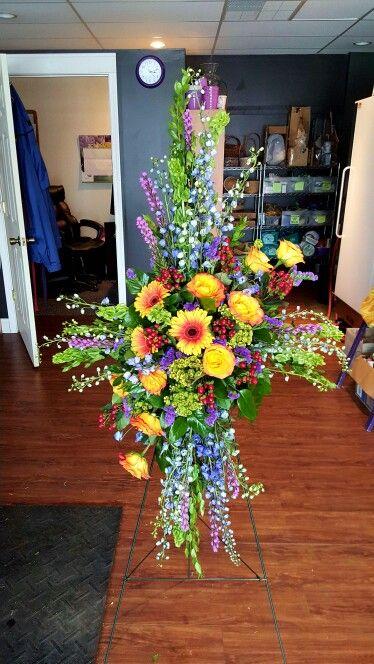 Pretty natural cross spray (350) at Kutchey's Flowers in Midland, Mi