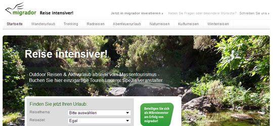 """Reise-StartUp migrador.de: """"Wir wollen nicht als reine Buchungsplattform wahrgenommen werden"""" #crowdfunding"""