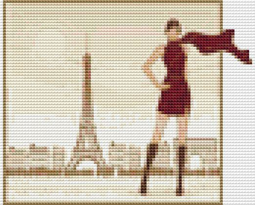 Mini Cross Stitch KIT  In Paris by TheArtofCrossStitch on Etsy, $18.00