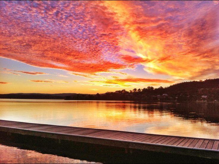 Warner's Bay sunset. Copyright Aaron Rusden Photography
