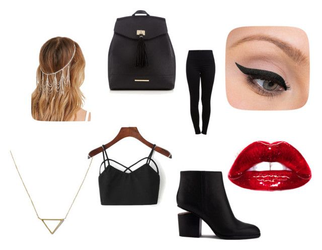 Sin título #8 by dancbc on Polyvore featuring moda, Pieces, Alexander Wang, Red Herring, Banana Republic, LORAC and Forever 21