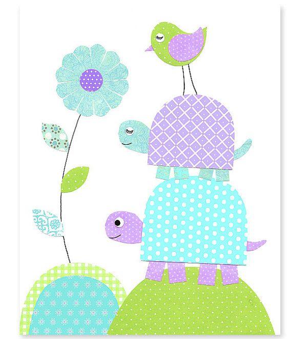 Sala Decor flor bebé ducha regalo Playroom por SweetPeaNurseryArt